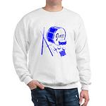 Jazz Drums Blue Sweatshirt