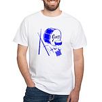 Jazz Drums Blue White T-Shirt