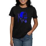 Jazz Drums Blue Women's Dark T-Shirt