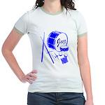 Jazz Drums Blue Jr. Ringer T-Shirt