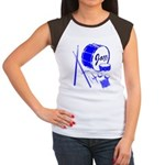 Jazz Drums Blue Women's Cap Sleeve T-Shirt