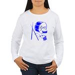 Jazz Drums Blue Women's Long Sleeve T-Shirt