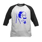 Jazz Drums Blue Kids Baseball Jersey