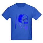 Jazz Drums Blue Kids Dark T-Shirt