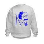 Jazz Drums Blue Kids Sweatshirt