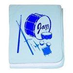 Jazz Drums Blue baby blanket