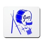 Jazz Drums Blue Mousepad