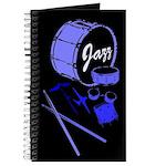 Jazz Drums Blue Journal