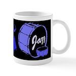Jazz Drums Blue Mug