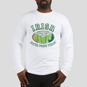 Irish Beer Pong Long Sleeve T-Shirt