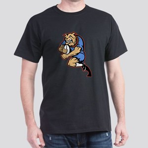 Bulldog playing rugby Dark T-Shirt