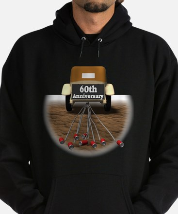 60th Wedding Anniversary Hoodie (dark)