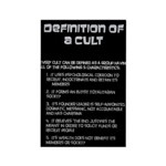 Definition of a Cult Rectangle Magnet (100 pack)