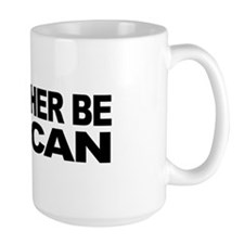 I'd Rather Be Vulcan Large Mug