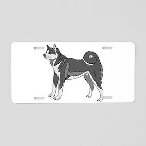 Akita Dog Aluminum License Plate