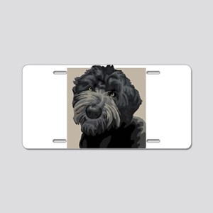 Black Russian Terrier Aluminum License Plate