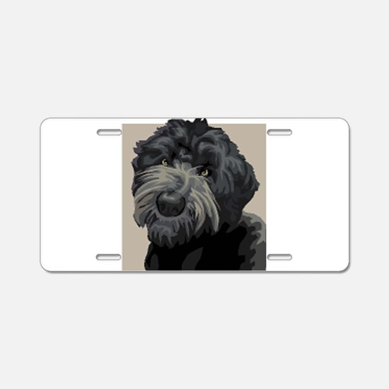 Black Russian Terrier Aluminum License Plate