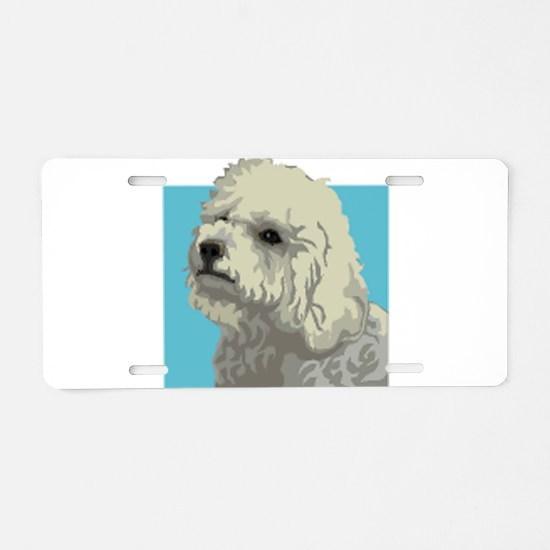 Bolognese dog Aluminum License Plate
