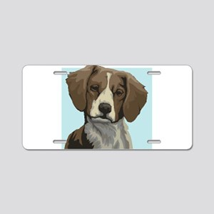 Brittany dog Aluminum License Plate