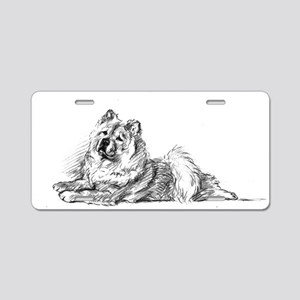 Chow Chow Aluminum License Plate