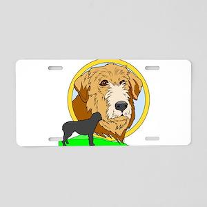 Irish Wolf Hound Aluminum License Plate