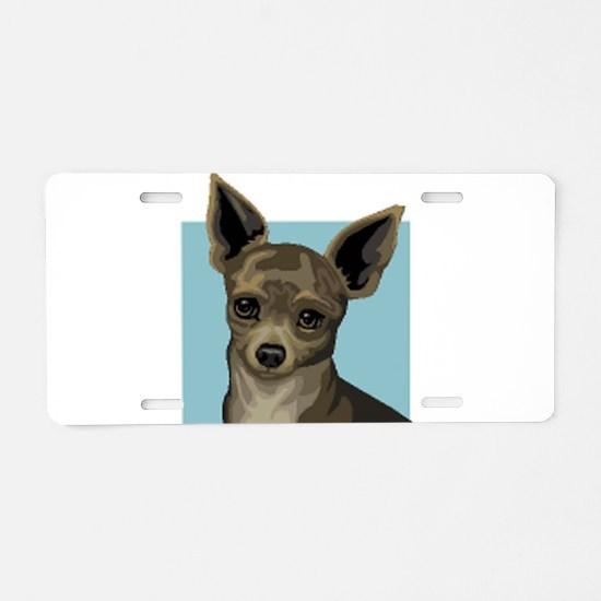 Chihuahua Aluminum License Plate