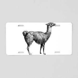 IIama Aluminum License Plate