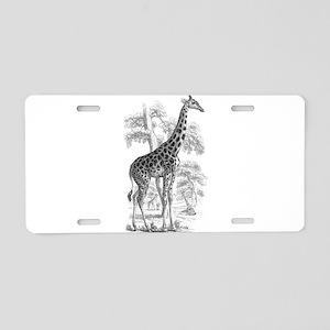 Giraffe Drawing Aluminum License Plate