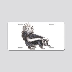 Striped Skunk Aluminum License Plate