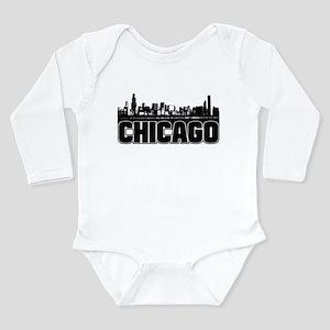 Chicago Skyline Long Sleeve Infant Bodysuit