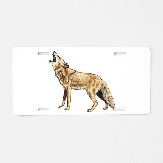Coyote Aluminum License Plate