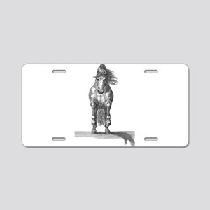 Charging horse Aluminum License Plate