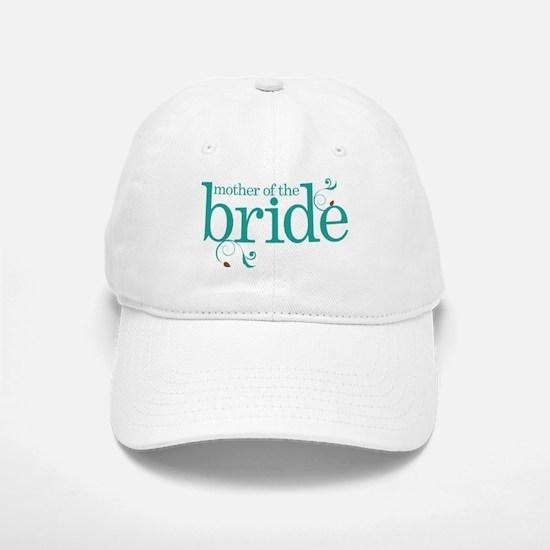 Mother of the Bride Swirl Baseball Baseball Cap