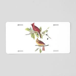 Northern Cardinal Aluminum License Plate