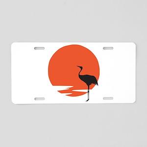 Crane bird Aluminum License Plate