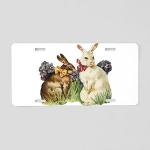 Easter Bunnys Aluminum License Plate