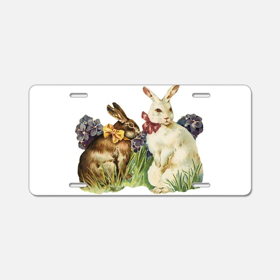 Easter Bunnys Aluminum License Plate
