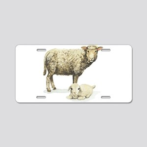 Sheep and Lamb Aluminum License Plate