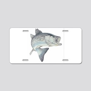 Striped Bass Aluminum License Plate