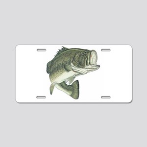 Large Mouth Bass Aluminum License Plate