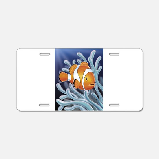 Clown Fish Aluminum License Plate
