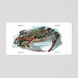 Blue crab Aluminum License Plate