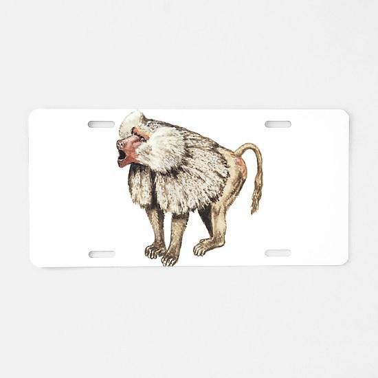 Baboon Aluminum License Plate