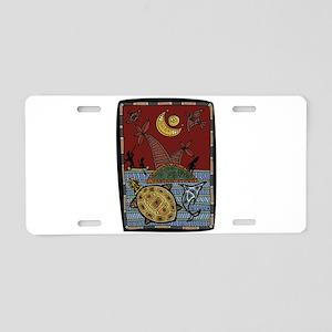 Tribal Art Aluminum License Plate