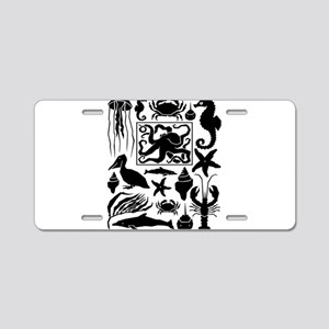 Sea Life Aluminum License Plate