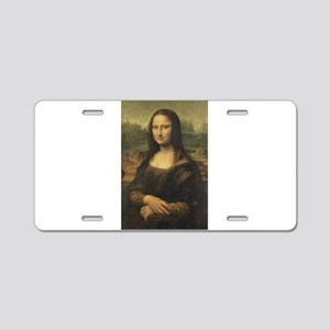 Mona Lisa Aluminum License Plate
