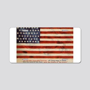 The Star-Spangled Banner Aluminum License Plate