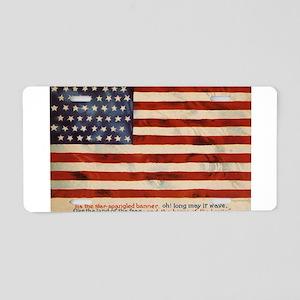 The Star-Spangled Banner Aluminum License Plate