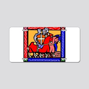 Knights Templar Aluminum License Plate