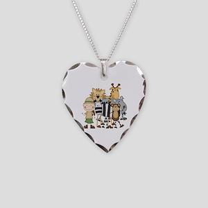 Boy on Safari Necklace Heart Charm